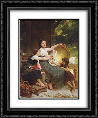 Les Confitures 20x24 Black or Gold Ornate Framed and Double Matted Art Print by Emile Munier