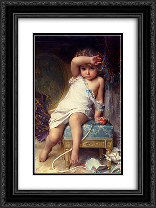 The Broken Vase 18x24 Black or Gold Ornate Framed and Double Matted Art Print by Emile Munier