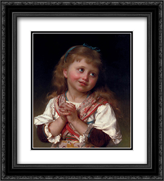 May I? 20x22 Black or Gold Ornate Framed and Double Matted Art Print by Emile Munier