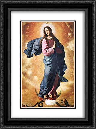 Immaculate Conception 18x24 Black or Gold Ornate Framed and Double Matted Art Print by Francisco de Zurbaran