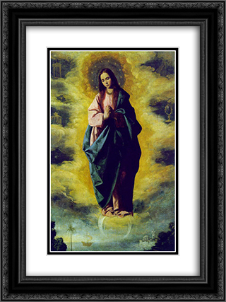 The Immaculate Conception 18x24 Black or Gold Ornate Framed and Double Matted Art Print by Francisco de Zurbaran