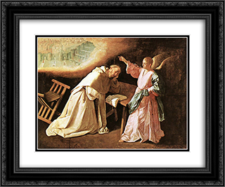 The Vision of St Peter of Nolasco 24x20 Black or Gold Ornate Framed and Double Matted Art Print by Francisco de Zurbaran