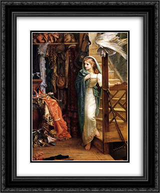 The Property Room 20x24 Black or Gold Ornate Framed and Double Matted Art Print by Arthur Hughes