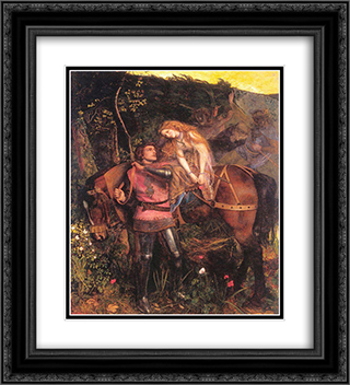 La Belle Dame Sans Merci 20x22 Black or Gold Ornate Framed and Double Matted Art Print by Arthur Hughes