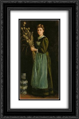 Lucy Hill 16x24 Black or Gold Ornate Framed and Double Matted Art Print by Arthur Hughes