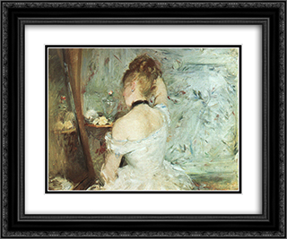 A Woman at her Toilette 24x20 Black or Gold Ornate Framed and Double Matted Art Print by Berthe Morisot