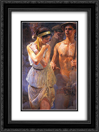 Polonia II 18x24 Black or Gold Ornate Framed and Double Matted Art Print by Jacek Malczewski