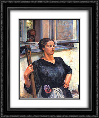 Death 20x24 Black or Gold Ornate Framed and Double Matted Art Print by Jacek Malczewski