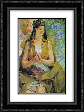 Polonia 18x24 Black or Gold Ornate Framed and Double Matted Art Print by Jacek Malczewski