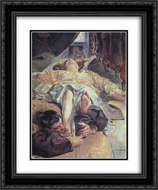 Death of Ellenai 20x24 Black or Gold Ornate Framed and Double Matted Art Print by Jacek Malczewski