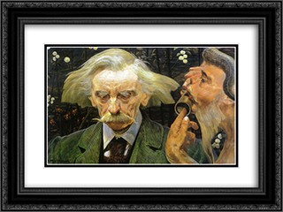 Portrait of Stanislaw Bryniarski 24x18 Black or Gold Ornate Framed and Double Matted Art Print by Jacek Malczewski