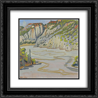 Landscape 20x20 Black or Gold Ornate Framed and Double Matted Art Print by Constantine Maleas