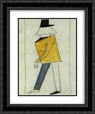 Coward 20x24 Black or Gold Ornate Framed and Double Matted Art Print by Kazimir Malevich