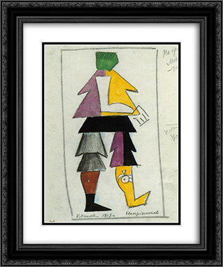 Enemy 20x24 Black or Gold Ornate Framed and Double Matted Art Print by Kazimir Malevich