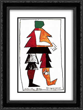 Enemy 18x24 Black or Gold Ornate Framed and Double Matted Art Print by Kazimir Malevich