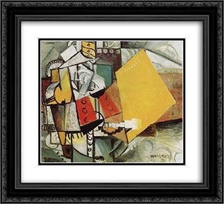 Guard 22x20 Black or Gold Ornate Framed and Double Matted Art Print by Kazimir Malevich