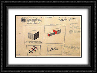 Formula of suprematism 24x18 Black or Gold Ornate Framed and Double Matted Art Print by Kazimir Malevich