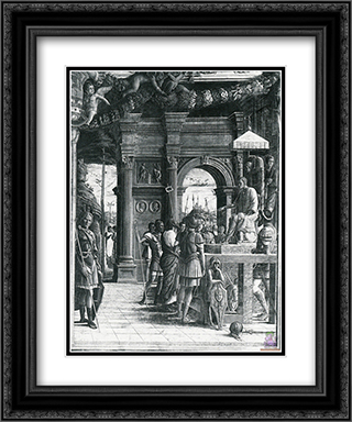 Scenes from the Life of St.James 20x24 Black or Gold Ornate Framed and Double Matted Art Print by Andrea Mantegna