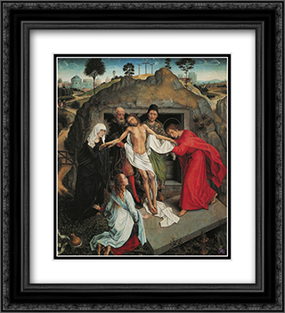 Lamentation Over the Dead Christ 20x22 Black or Gold Ornate Framed and Double Matted Art Print by Andrea Mantegna