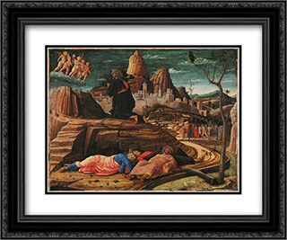 The Agony in the Garden 24x20 Black or Gold Ornate Framed and Double Matted Art Print by Andrea Mantegna