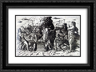 The Entombment 24x18 Black or Gold Ornate Framed and Double Matted Art Print by Andrea Mantegna