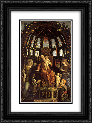 Christianity, saints-and-apostles 18x24 Black or Gold Ornate Framed and Double Matted Art Print by Andrea Mantegna