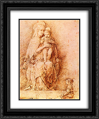 Madonna and child 20x24 Black or Gold Ornate Framed and Double Matted Art Print by Andrea Mantegna