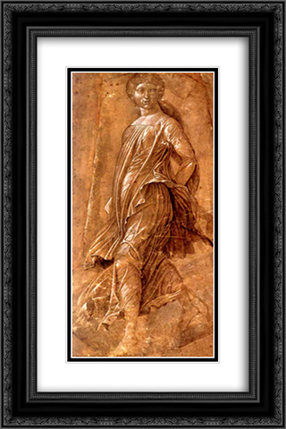 Muse 16x24 Black or Gold Ornate Framed and Double Matted Art Print by Andrea Mantegna