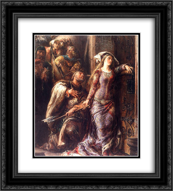 Dimitri from Goraj 20x22 Black or Gold Ornate Framed and Double Matted Art Print by Jan Matejko