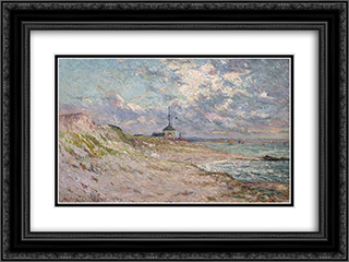 Semaphore of the Beg-Meil, Brittany 24x18 Black or Gold Ornate Framed and Double Matted Art Print by Maxime Maufra