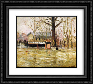 Flood (Joinville-le-Pont) 22x20 Black or Gold Ornate Framed and Double Matted Art Print by Maxime Maufra