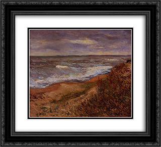 By the Sea 22x20 Black or Gold Ornate Framed and Double Matted Art Print by Maxime Maufra
