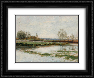 Landscape 24x20 Black or Gold Ornate Framed and Double Matted Art Print by Maxime Maufra