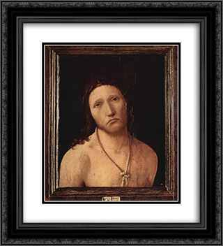 Ecce Homo 20x22 Black or Gold Ornate Framed and Double Matted Art Print by Antonello da Messina