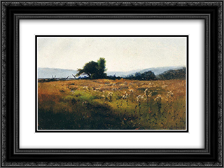 Mountain View from High Field 24x18 Black or Gold Ornate Framed and Double Matted Art Print by Willard Metcalf