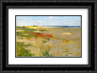 On the Suffolk Coast 24x18 Black or Gold Ornate Framed and Double Matted Art Print by Willard Metcalf