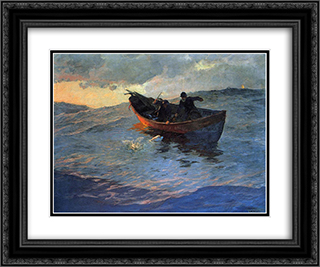 On the Suffolk Coast 02 24x20 Black or Gold Ornate Framed and Double Matted Art Print by Willard Metcalf