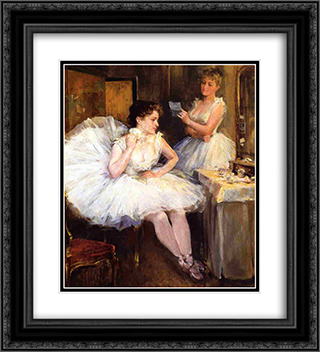 The Ballet Dancers aka The Dressing Room 20x22 Black or Gold Ornate Framed and Double Matted Art Print by Willard Metcalf