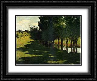 Sunlight and Shadow 24x20 Black or Gold Ornate Framed and Double Matted Art Print by Willard Metcalf