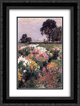 Purple, White and Gold 18x24 Black or Gold Ornate Framed and Double Matted Art Print by Willard Metcalf