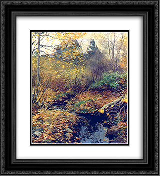 Landscape 20x22 Black or Gold Ornate Framed and Double Matted Art Print by Willard Metcalf