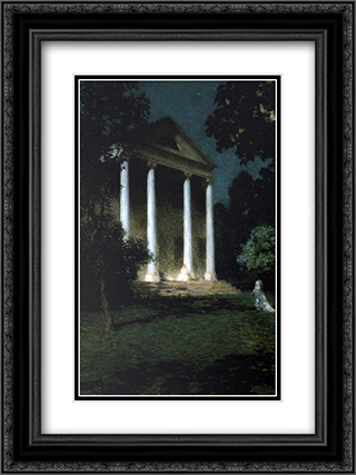 May Night 18x24 Black or Gold Ornate Framed and Double Matted Art Print by Willard Metcalf