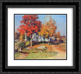 October 22x20 Black or Gold Ornate Framed and Double Matted Art Print by Willard Metcalf