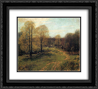 Prelude 22x20 Black or Gold Ornate Framed and Double Matted Art Print by Willard Metcalf