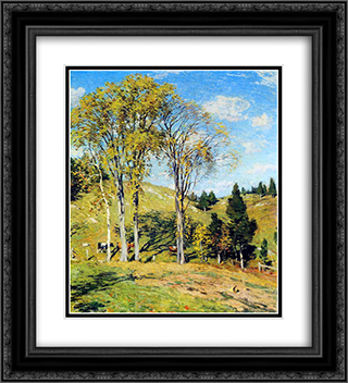 September 20x22 Black or Gold Ornate Framed and Double Matted Art Print by Willard Metcalf