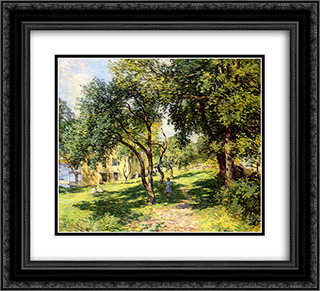 The Path 22x20 Black or Gold Ornate Framed and Double Matted Art Print by Willard Metcalf