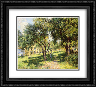 The-Path 22x20 Black or Gold Ornate Framed and Double Matted Art Print by Willard Metcalf