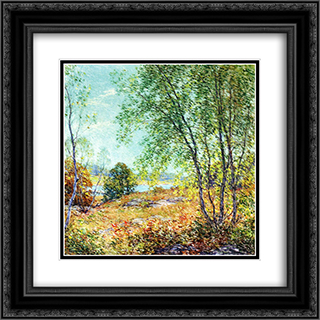 Passing Summer 20x20 Black or Gold Ornate Framed and Double Matted Art Print by Willard Metcalf