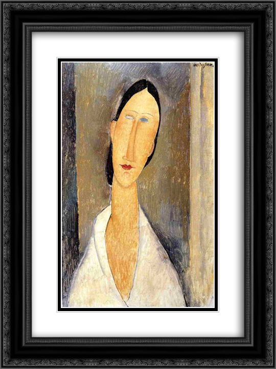 Hanka Zborowska 18x24 Black or Gold Ornate Framed and Double Matted Art Print by Amedeo Modigliani