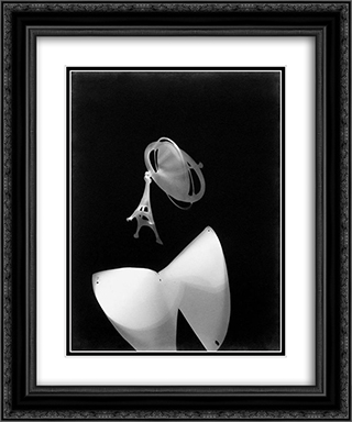 Photogram 20x24 Black or Gold Ornate Framed and Double Matted Art Print by Laszlo Moholy Nagy